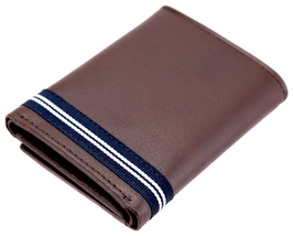Nautica Men's Genuine Leather Credit Card Id Holder Trifold Wallet image 13