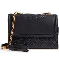 Tory Burch Fleming Small Convertible Shoulder Bag- Black - £233.45 GBP