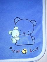 Carter's Child Of Mine Blue PUPPY LOVE Fleece Blanket Boys 30x35 Lovey Bear Dog - $16.55