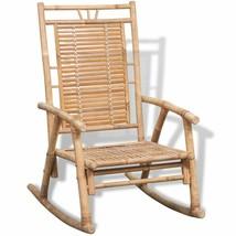 vidaXL Rocking Chair Bamboo Outdoor Patio Garden Porch Deck Seat Armchair - $61.99