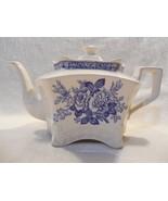 Arthur Woods England Porcelain Monarch Hexagon Style Blue Floral Design ... - $17.95