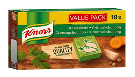 Knorr Vegetable Bouillon cubes value pack 18x10g (SET OF 8) = 1440g, 144... - $89.09
