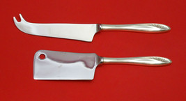 Petite Fleur By Reed & Barton Sterling Silver Cheese Serving Set 2PC Hhws Custom - $93.20