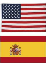 Wholesale LOT 3'x5' USA AMERICAN & 3'x5' Spanish flag the Spain National Flag - $26.00