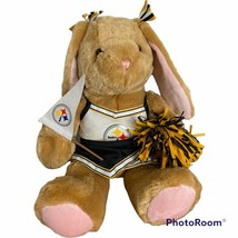 Build a Bear Pittsburg Steelers Cheerleader Rabbit Bunny Plush with Outf... - $34.62