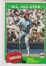 1981 Topps #540 Mike Schmidt card, Philadelphia Phillies HOF - $0.99