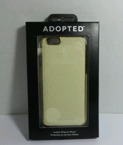ADOPTED LEATHER WRAP Iphone 6 APH13112 WHITE GOLD SIZE 2 5/8 in. by 5 1/2 in.