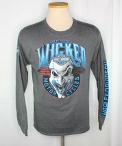 Harley Davidson Wicked Myrtle Beach Motorcycles Clown Gray LS Sz M - $23.74