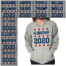 Star Spangled USA Presidential Vote For 2020 Zipper Sweat Shirt Zip Swea... - $19.99+