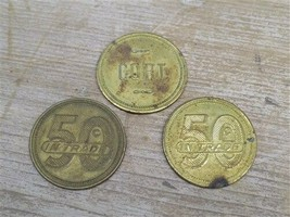 Cort Brass Trade Token Exonumia 50 Cents in Trade Vintage Store Coin Arcade - $49.00