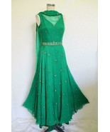 Vintage 70s Saz by Surjit & Adarsh Gill 100% Silk Chiffon Evening Dress ... - $450.00