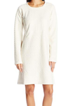 Medium prAna Women's Macee Dress Scoop Neck Shift Long Sleeve Jacquard Knit NEW