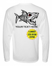 6 Personalized Custom Front & Back Printed Dri Fit Longsleeve Fishing Sun ShirtI image 2