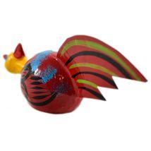 Handmade Oaxaca Copal Wood Carving Folk Art Chicken Rooster Bobble Head Figurine image 3