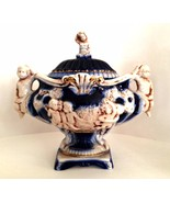 Norleans Lidded Pedestal Bowl Hand Made Italy Vintage Cherubs 10 inches ... - $128.69
