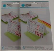 Martha Stewart Crafts Modern Festive 36 Thank You Cards Lot 6 Envelopes ... - $4.19