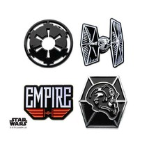 Disney Star Wars Imperial Galactic Empire and Tie Fighter Enamel Lapel Pin Set - $26.95