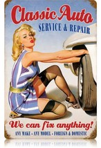 Classic Auto Pin-Up Metal Sign - $30.00