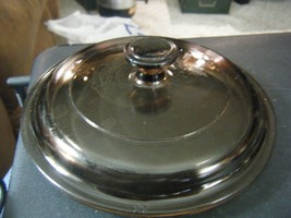 """Pyrex P81C Glass Replacement 6"""" Round Lid with Flange Amber Brown - $12.86"""