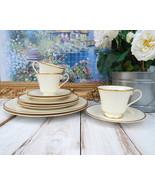 ROYAL DOULTON Heather Romance 4-Piece Settings for 2 + BONUS, Ivory Whit... - $249.00