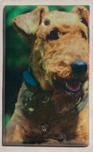 Airedale Dog Light Switch Power Outlet wall Cover Plate Home decor All size image 3