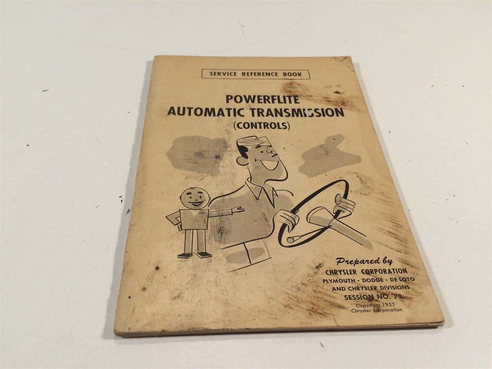 1953 Chrysler Corp Service Reference Book 72 Powerflite Automatic Transmission