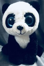"TY Classic Collection Panda Bear Ming Plush Stuffed Toy Big Glitter Eyes 9"" - $14.84"