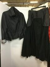 Ivan Grundahl Denim Black Jacket Long Skirt Sz 44 Copenhagen Barneys New York image 1