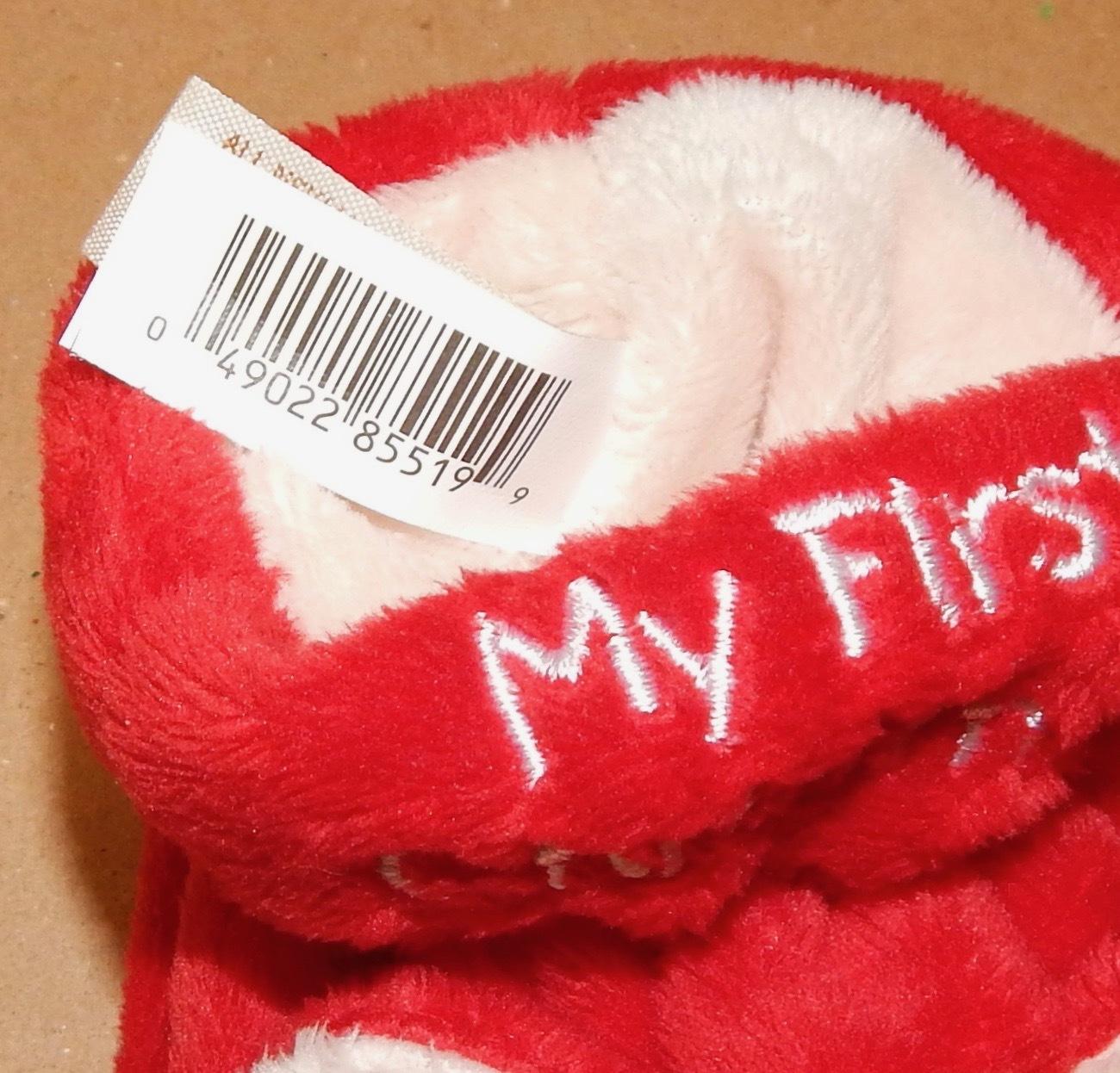 b0814dd91 Christmas Baby Booties 0-6 Months My First Christmas By Dan Dee Bear Santa