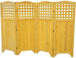 Patio Folding Wood Privacy Screen Garden Balcon... - $227.69