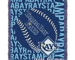 MLB Tampa Bay Rays 48 x 60-Inch Double Play Jacquard Triple Woven Throw