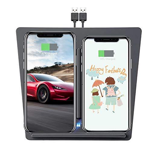 Tesla Model 3 Wireless Charger, Dual QI Wireless Phone ...