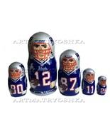 "New England Patriots nesting doll matryoshka doll, babushka doll 5 pc, 6"" - $59.90"