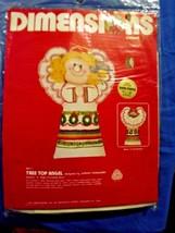 1981 Dimensions TREE TOP ANGEL Crewel Embroidery KIT Christmas HOEWELER ... - $15.14