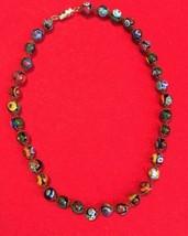 Stunning Italian venetian  murano colorful  millefiori art glass  necklace - $171.77