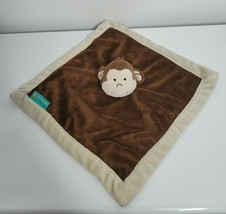 Tiddliwinks Monkey Brown Baby Security Blanket Lovey w Cream Edge - $18.99