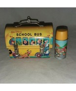2001 Walt Disney Hallmark Cards Inc School Bus and Thermos Ornaments Cha... - $16.99