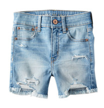 American Eagle Womens Destroy Light Blue Midi Denim Jean Shorts Sz 00 65... - $47.03