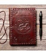 Om Yoga Handmade Leather Journal - $40.00