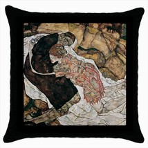 Death And The Maiden Egon Schiele Throw Pillow Case - $16.44