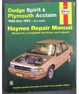 Haynes Service Manual 30060 Dodge Spirit Plymouth Acclaim 1989 thru 1995 - $11.95