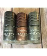 Set of 3 Sally Hansen Magnetic Nail Polish Nail Art-Silver-Copper-Graph... - $9.46