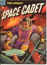 Tom Corbett Space Cadet #8 1953-Dell-rocket crash cover-sc-fi thrills-FN/VF - $105.54