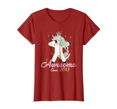 Brother Shirts - Cute Unicorn Dabbing Awesome Since 2013 5th Yrs Old T Shirt Wow - $19.95+
