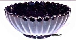 Imperial Glass Pillar &  Flute Ebony Black Glass Small Bowl Cranberry Pe... - $18.86