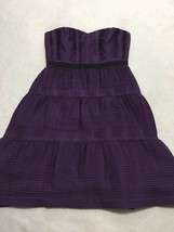 BCBG Max Azria 6 Grape Purple Tiered Pleated Strapless Party Dress - $29.99