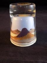 PAINTED DESERT SANDS ART HAND MADE by American Indian desert scene under... - $9.89