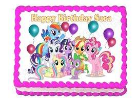 Remarkable My Little Pony Cake Topper 9 Listings Personalised Birthday Cards Beptaeletsinfo