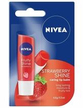 NIVEA Strawberry Shine caring lip balm long lasting moist & fruity tint ... - $7.50