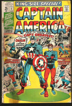 CAPTAIN AMERICA King Sized SPECIAL #1 ORIGIN STORY OF CAPT A KIRBY 1971 ... - $15.91